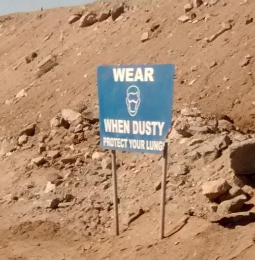 Namibia Uranium Dust Sign